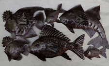 """Large Wall Decor Many Ocean Fishes Wall Art Hanging Metallic Picture On Wall 34"""""""