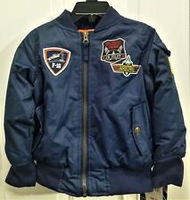 Nwt Ixtreme Outfitters Water Resistant Navy Pilot Jacket, Fleece Lined, Boys 3T