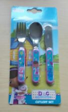 DOC MCSTUFFINS 3-Piece CUTLERY SET (Knife/Fork/Spoon) Stuffy Lambie New in pack.