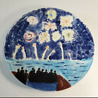 Studio+Art+Pottery+Hand+Painted+Plate+Signed+by+Caleb+%C3%98+10%22