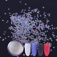 10ml/box Clear White Nails Beads 3D Glitter  Nail Art Decoration Tips