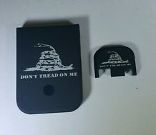 Mag Magazine Base Floor Plate for Glock 9mm & 40 Dont Tread On Me, Combo