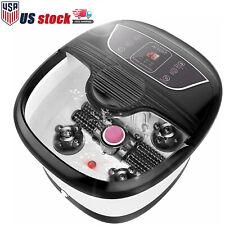 Portable Foot Spa Bath Massager Bubble Heat Soaker Heating Pedicure Soak Tub