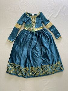 Disney Store Castle Collection Brave Merida Dress/Halloween Costume-size 7/8