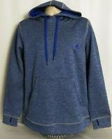 Adidas Climawarm Pullover Thumbhole Sweatshirt Hoodie Blue Womens Size XL