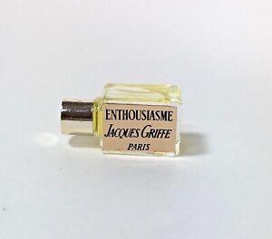 Vintage Enthousiasme Jacques Griffe Perfume Parfum Micro Mini Miniature Bottle