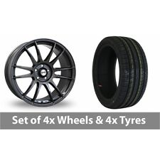 """4 x 18"""" Calibre Suzuka Gun Metal Alloy Wheel Rims and Tyres -  215/35/18"""