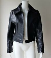 SCANLAN THEODORE Original 100% Leather Jacket Black SIZE 10 Designer