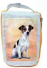 Jack Russell Foldable Tote Bag - Durable, Waterproof - Zippered Market Tote