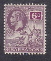 Barbados KGV - 1912 - 6d Purple - SG177 - Mint Hinged (C6A)