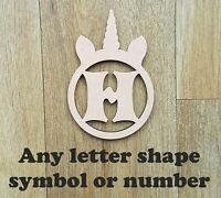 Unicorn Circle MDF Wooden Letters & Numbers Choice of Heights 10cm - Large 60cm