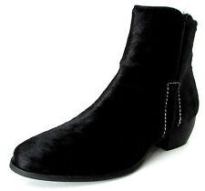 BOTTINES BOOTS 37 cuir façon poulain noir Ilman zip ONE STEP femme fille NEUF