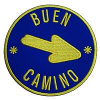 Buen Camino Patch (3 Inch) Ironon Badge Way of St James Scallop Santiago Arrow