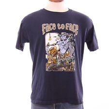Vtg Large Face 2 Face 1996 Fall Tour Blue Concert T Shirt Dave Leamon Artwork