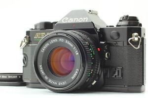 【NEAR MINT 】 Canon AE-1 SLR Film Camera Black New FD NFD 50mm f/1.8 Lens Japan