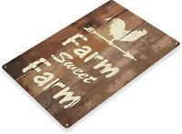 TIN SIGN B762 Farm Sweet Farm Kitchen Cottage Farm Barn Metal Rustic Decor