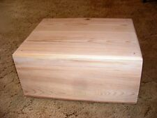 Pet Coffin Casket for Dogs/Cats 18 x 14 x 8 All Cedar + Decorative Edge Routed