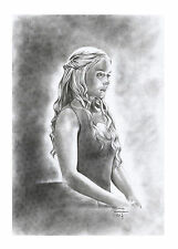 DAEYNERYS 'Game of Thrones' by Adriana Tavares - original drawing - cardstock