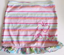 GIRLS ORCHESTRA FRANCE PINK STRIPED BUTTERFLY FRILLY SWIM BEACH SKIRT - 9-10 YRS