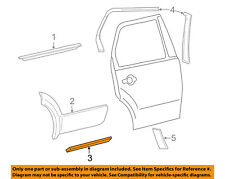 FORD OEM Freestyle Rear Door Body Side-Lower Molding Trim Left 6F9Z7425557DAPTM