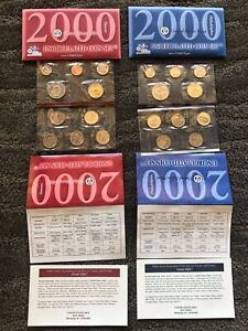 2000 US Mint Uncirculated Coin Set (Philadelphia & Denver) w/Envelope