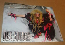 TWISTED SISTER   / DEE SNIDER  /  EXCELLENT SIGNED COLOR PHOTO