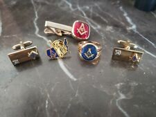 MASONIC 10kt RING...GOLD FILLED CUFF LINKS ...TIE TACK...AND PIN......