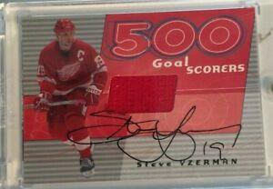 2001-02 BAP Signature Series: 500 Goal Scorers Auto-Steve Yzerman