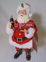 Coca-Cola  2018 Kurt S Adler Fabriche Christmas Santa with Truck & Bottle & Tags