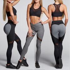 Women's Active Yoga Pants Heart Shape Butt Printed Fitness Leggings Workout Gym