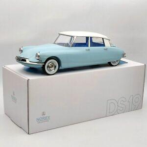 Norev 1:12 Citroen DS 19 1959 Bleu Nuage & Blanc Carrare 121564 Diecast Models
