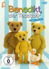 2 DVDs * BENEDIKT , DER TEDDYBÄR - FOLGE 1 - 26  # NEU OVP ^