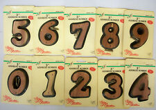 """Cedars Classics Handcrafted Aromatic Solid Red Cedar 3"""" Home Address Numbers"""
