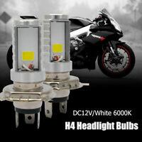 2X Bombilla 12W H4 LED Faros Delanteros De Motocicleta para Honda / Kawasaki etc