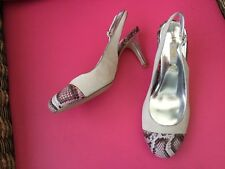 Lovely Ivory/wine coloured slingback shoes by Next size 6 BN £36