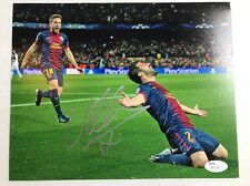 David Villa Signed 8x10 Photo Autographed JSA/COA Spain Barcelona
