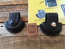 Tex Shoemaker Black Basketweave Smokeless Tobacco Chew Holder