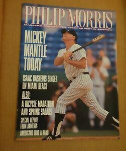 MICKEY MANTLE -- 1989 PHILIP MORRIS MAGAZINE
