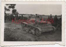 Q754 Foto Wehrmacht Polen Feldzug Beute Panzer 7TP TOP Motiv !