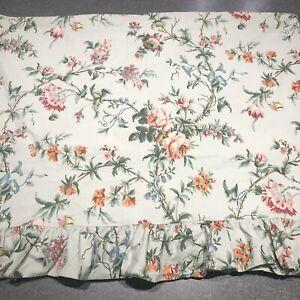 Ralph Lauren Toulouse Twin Flat Sheet Cotton Ruffled Floral Morning Glory *Read*