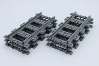 LEGO City Eisenbahn - 6x gerade Schienen - Gerade - NEU - aus Set 60198/60205