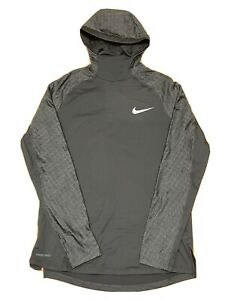 Nike Pro Therma Sphere Training Pullover Hoodie Top Black BV5663-010 Size Large