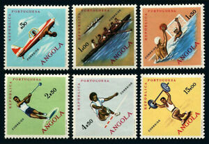 Angola 433-438,MNH.Sport.Flying,Rowing,Water polo,Hammer throwing,High jump,1962