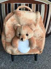 Bear Bookbag, Teddy Bear Luggage, Bear Bag, kids rolling bag