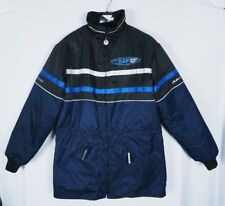 VTG Womens Arcticwear Arctic Cat Catillac Zip Out Blue Black 2 in 1 Coat Sz MT