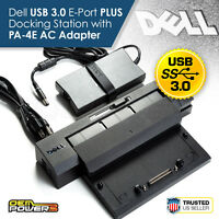 Latitude E5400 E5430 E5440 E5450 Dell E-Port Plus II USB 3.0 Docking Station +AC