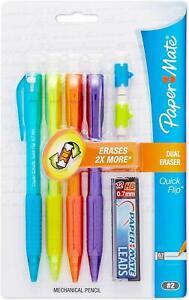 Papermate  Quick Flip Pencils  4 Starter Set & Large Eraser & Lead In Pk 1821283