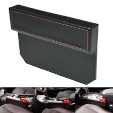 Car Seat Side Console Slit Caddy Catcher Storage Box Leather Car Seat Gap Filler