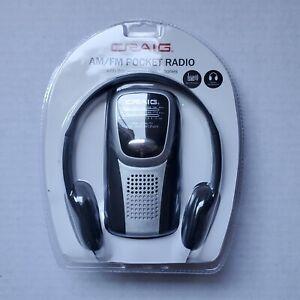 New Craig Electronics AM/FM Pocket Radio with Speaker and Headphones CS2500