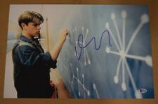 Matt Damon Signed Autograph 12x18 Poster Photo Good Will Hunting Beckett Bas Coa